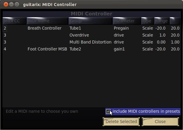 Lista de Controles MIDI