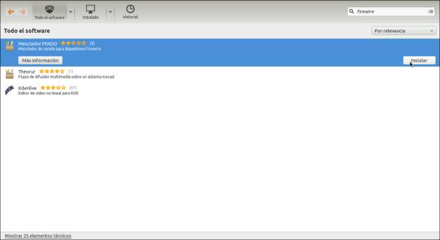 ffado Ubuntu Software Center