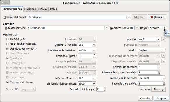 Cómo instalar una interfaz de audio Firewire bajo Ubuntu | El chalé