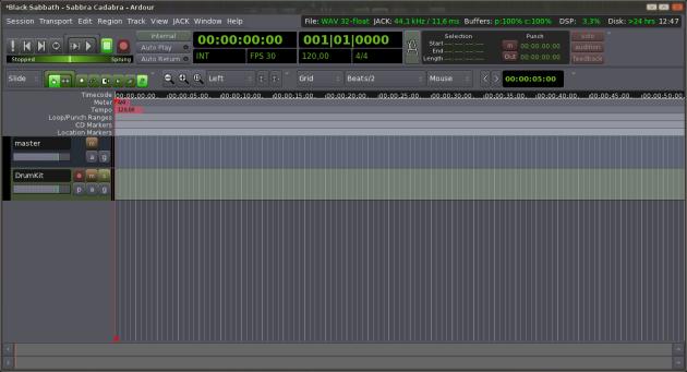 Ardour MIDI - 2 - Show Measures