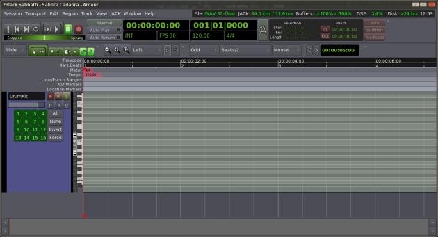 Ardour MIDI - 4 - Height Width Track