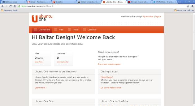 Ubuntu One - 3 - Dashboard