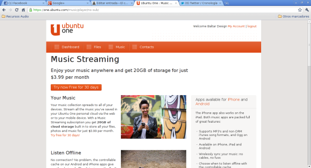 Ubuntu One - 5 - Music Streaming