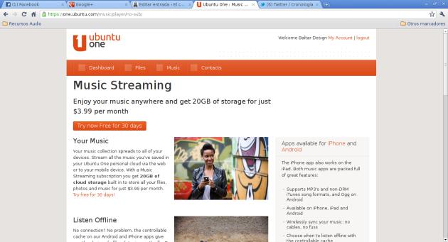 Ubuntu One - 5 - Music Streaming