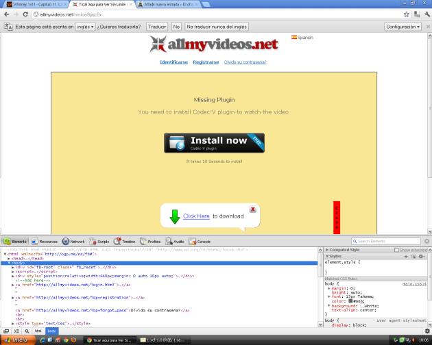 Código Fuente bajo Google Chrome