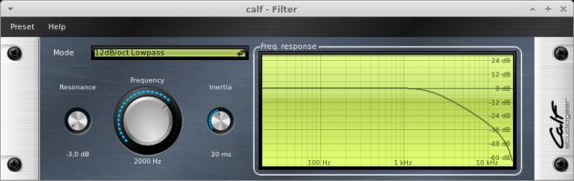 CALF Plugins - 1 - filter