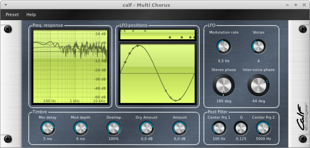 CALF Plugins - 10 - Multichorus