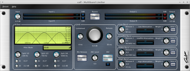 CALF Plugins - 19 - MultibandLimiter