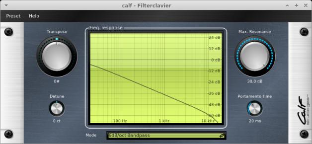 CALF Plugins - 2 - Filterclavier