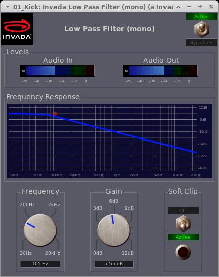 Invada Plugins - 5 - Low Pass Filter