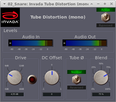 Invada Plugins - 7 - Tube Distortion