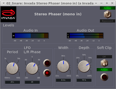 Invada Plugins - 8 - Stereo Phaser